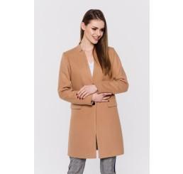 Wiosenny płaszcz wełniany ANITA - camel