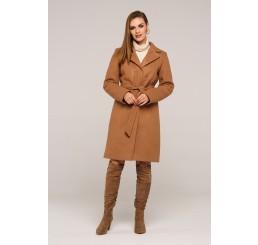 Płaszcz jesienno - zimowy wełniany EDYTA - camel