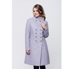 Płaszcz zimowy wełniany SUZANA STÓJKA - jasny wrzos