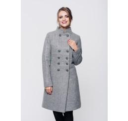 Płaszcz zimowy wełniany SUZANA STÓJKA - melange