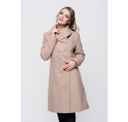 Płaszcz zimowy wełniany SUZANA - jasny camel