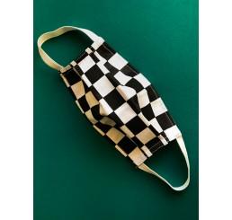 Maska ochronna  dwuwarstwowa - szachownica