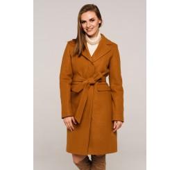 Płaszcz jesienno - zimowy wełniany EDYTA - karmel
