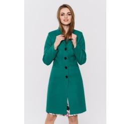 Wiosenny płaszcz wełniany  GRACJA  - zielony