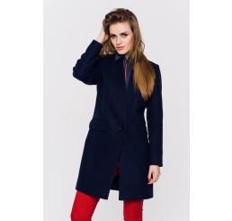 Wiosenny płaszcz wełniany ANITA - granat