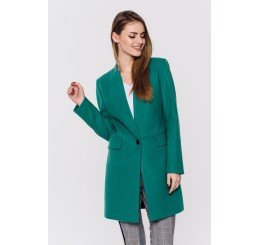 Wiosenny płaszcz wełniany ANITA - zielony